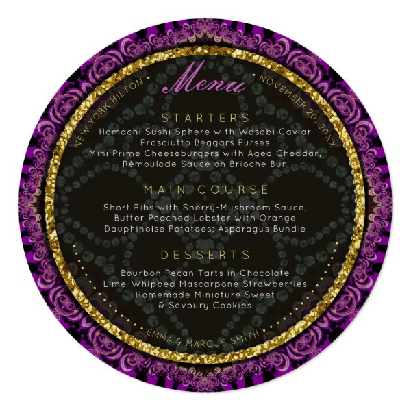 diamond_fuschia_lace_round_wedding_menu_cards-2